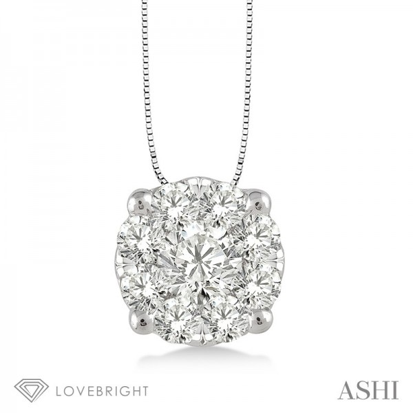 LoveBright diamond pendant  .35ct tw