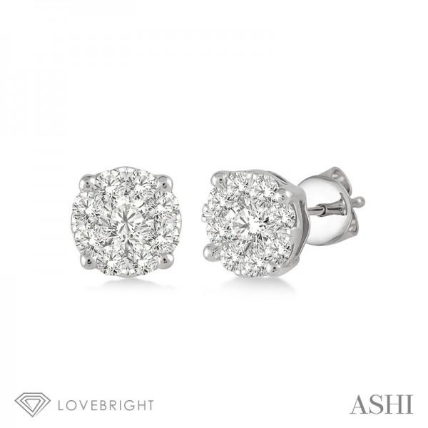 .25ct tw LoveBright earrings 14KW