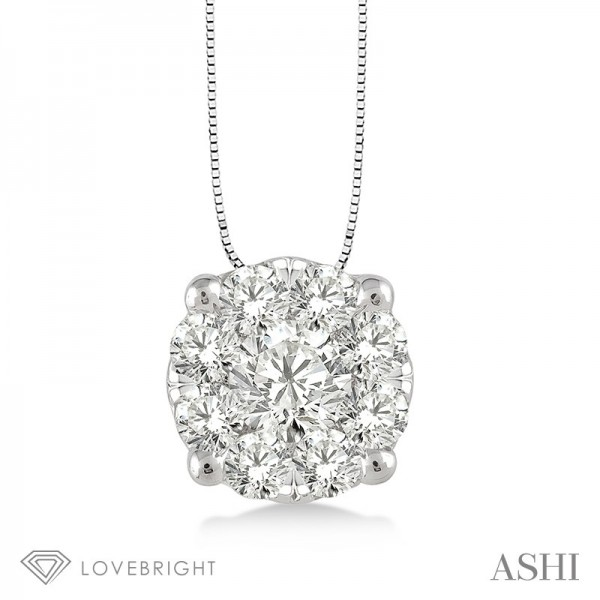 .25ct tw LoveBright Diamond Pendant 14KW
