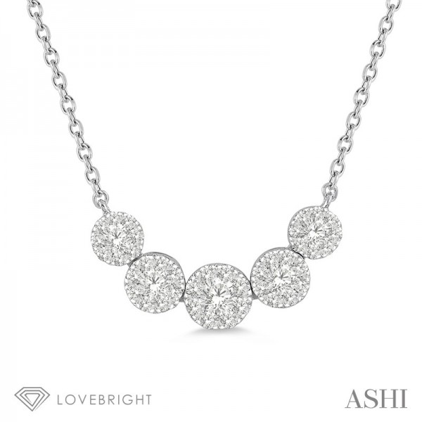 14KW .50ct tw LoveBright Diamond Necklace