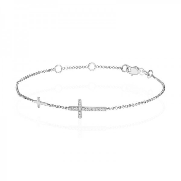 Luvente Diamond Cross Bracelet
