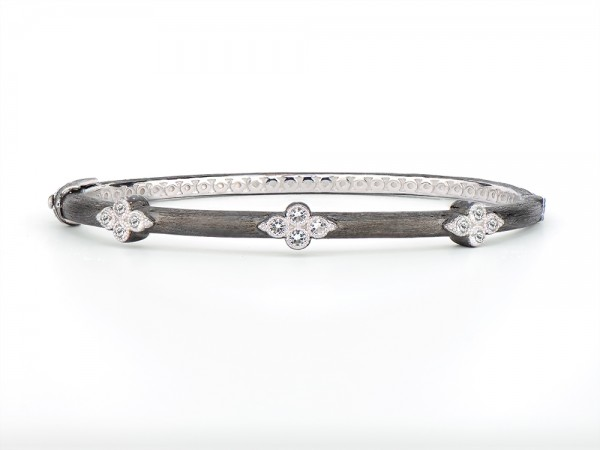 JudeFrances Silver Triple Moroccan Trio Bangle