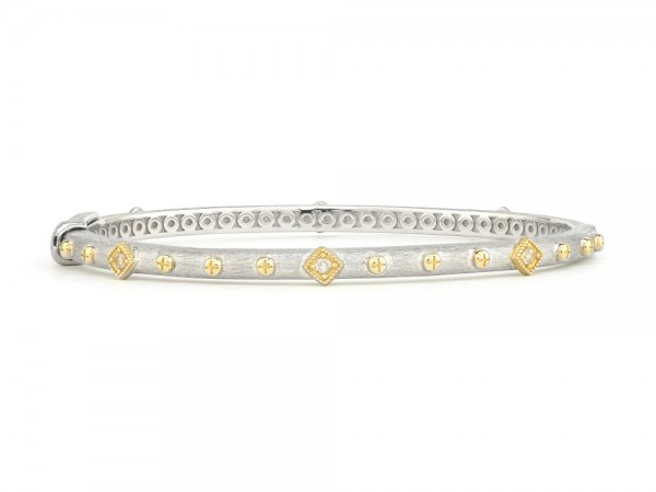 JudeFrances sterling silver stackable bangle bracelet.