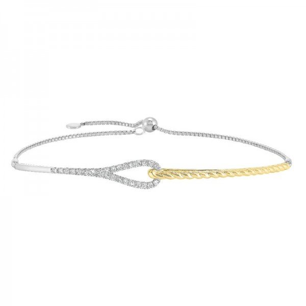 Lady's 14K Two Tone Diamond Bracelet