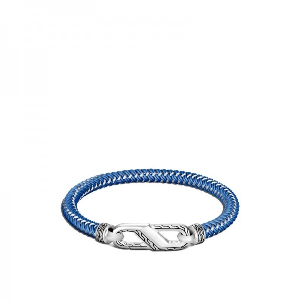 Classic Chain 6mm Bracelet in Silver with Steel Cord