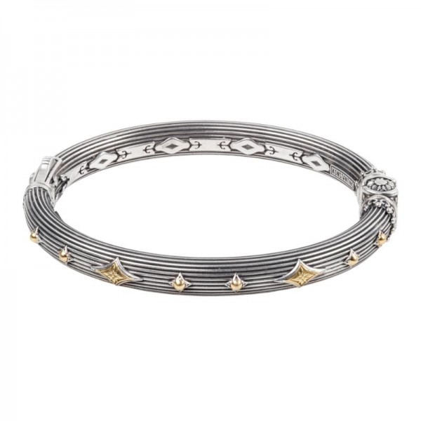 Women's Sterling Silver and 18K Gold Bracelet