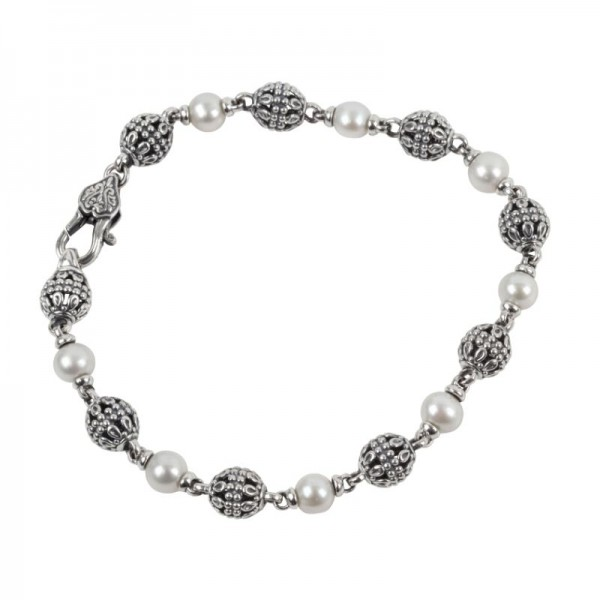 Women's Sterling and Pearl Bracelet