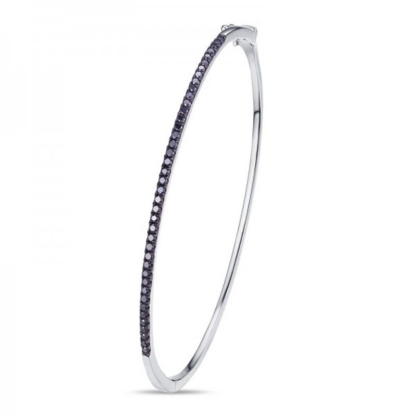 Luvente Black Diamond Bangle