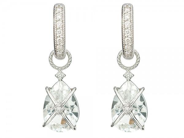 JudeFrances 18K White Gold  Earrings