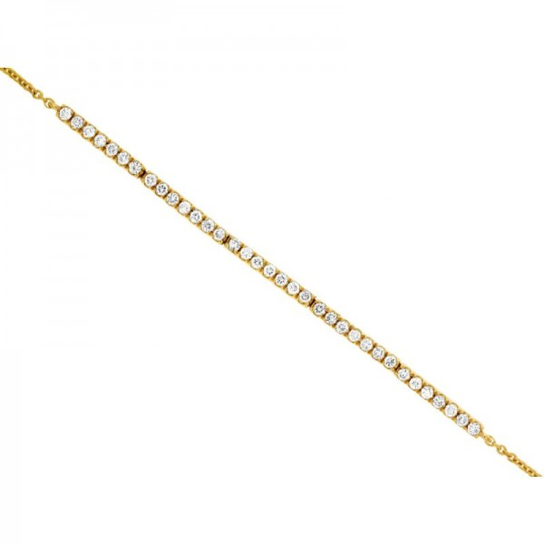 14KY Diamond Bar Bracelet