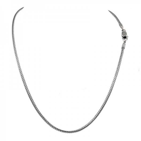 Women's Sterling Silver 2.75mm Square Wheat Chain, 20