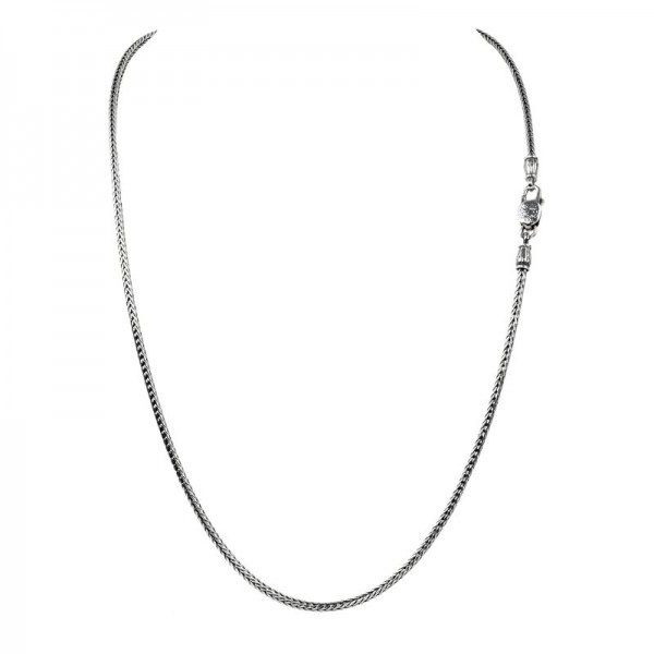 Women's Sterling Silver 2.5mm Woven Chain, 22