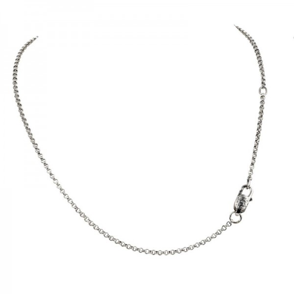 Women's Sterling Silver 1mm Rolo Chain, 16-18