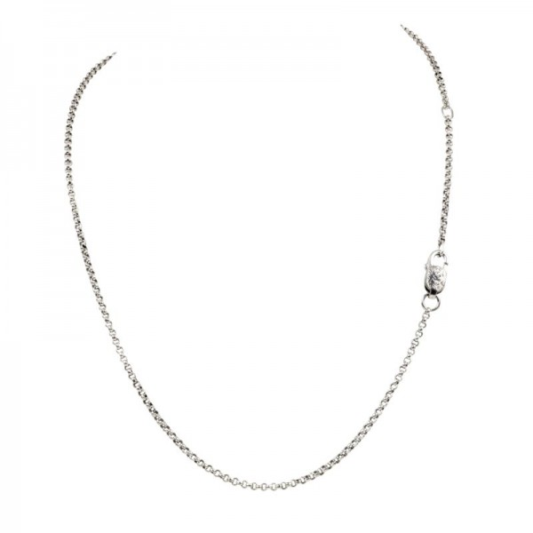 Women's Sterling Silver 1mm Rolo Chain, 18