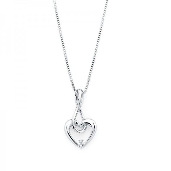 SS Diva Diamonds® Infinity Heart Pendant