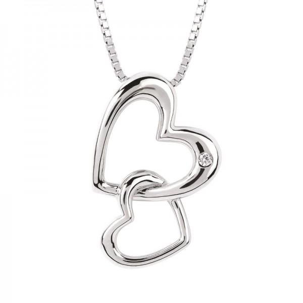 SS Diva Diamonds® Double Hearts Pendant