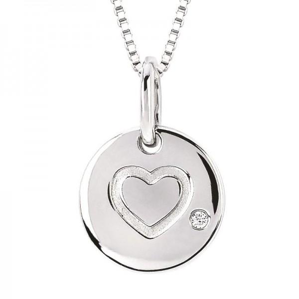 SS Diva Diamonds® Heart Charm Pendant
