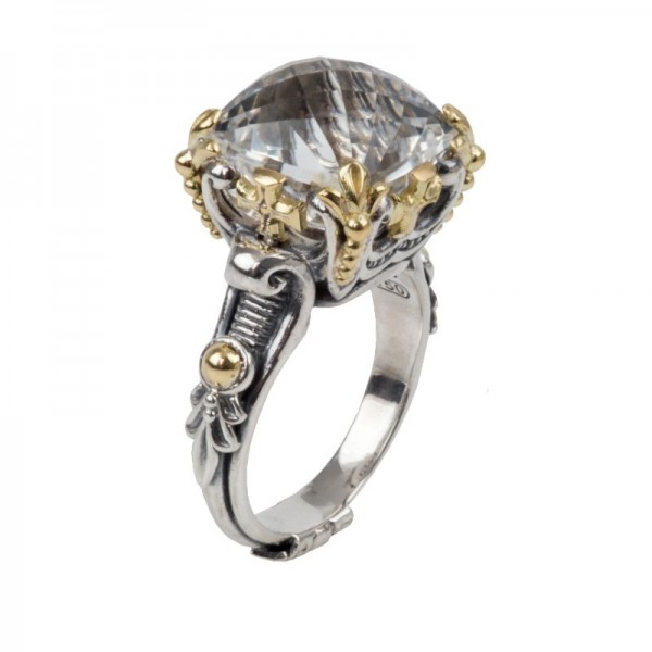 Women's  Pythia Collection Silver & 18KY Gold Ring, Size 7