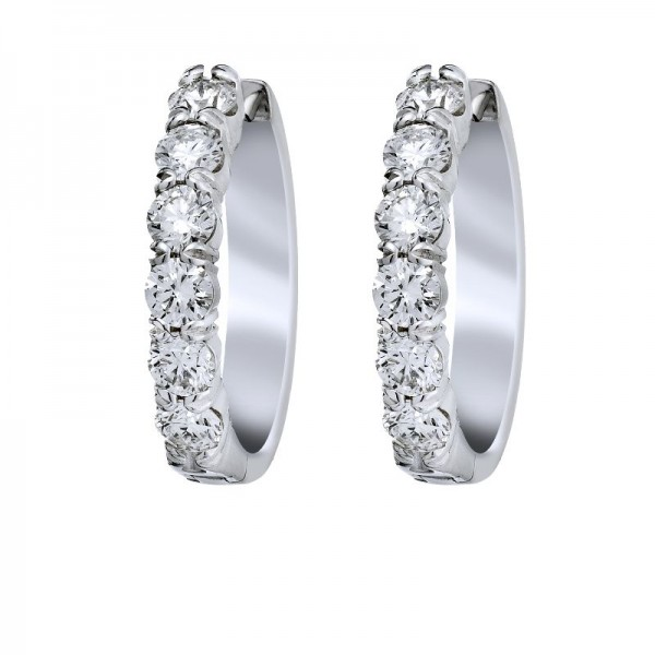 18KW .50ctw Diamond Fashion Earrings