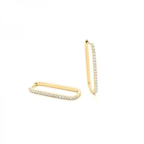 14KY Diamond Huggie Earrings