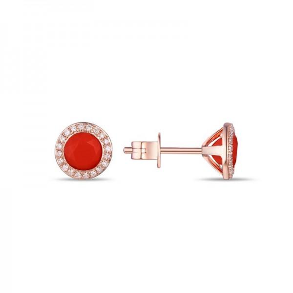 Luvente Coral Earrings