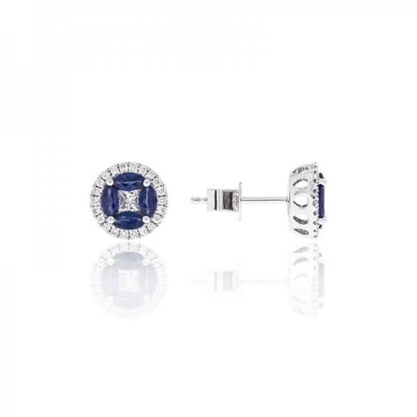 Luvente Sapphire and Diamond Earrings