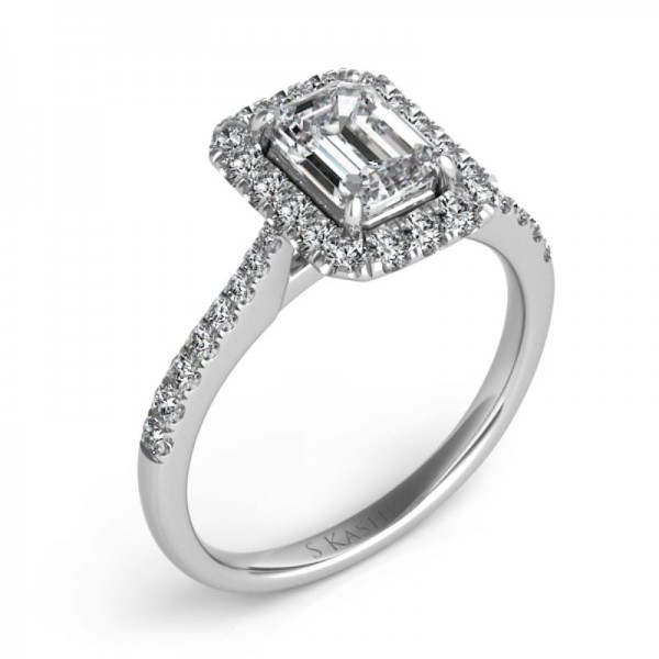 14K White Gold Gold Engagement Ring Semi Mounting