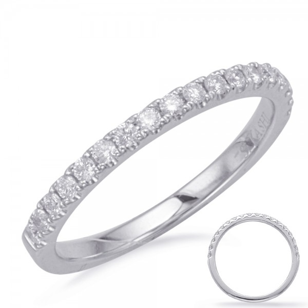 Ladie's 14K White Gold Gold Half Anniversary Wedding Band