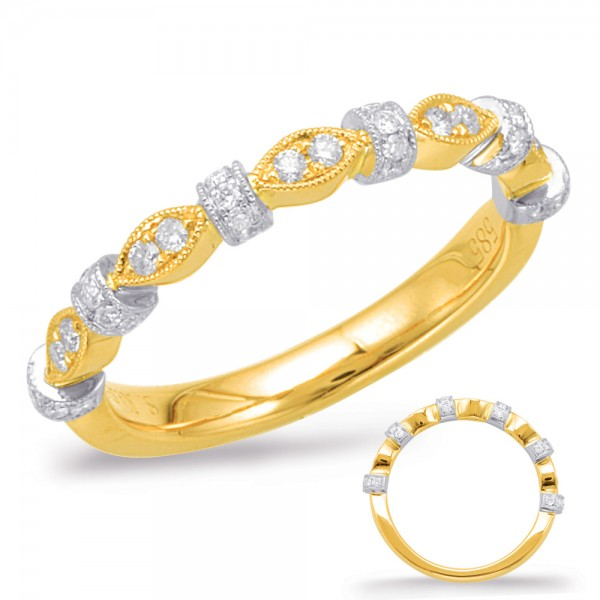 Ladie's 14k Yellow & White Gold Wedding Band
