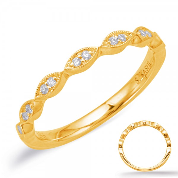 Ladie's 14K Yellow Gold Gold Matching Wedding Band