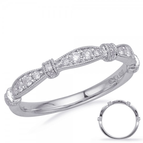 Ladie's 14K White Gold Gold Matching Wedding Band