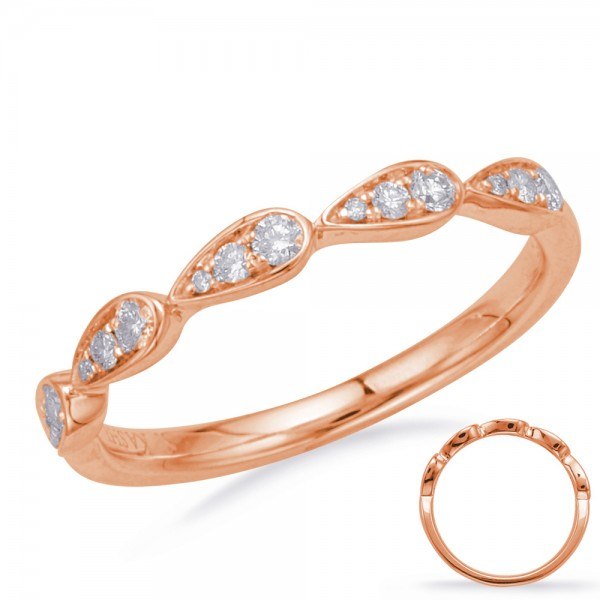 Ladie's 14k Rose Gold Matching Band