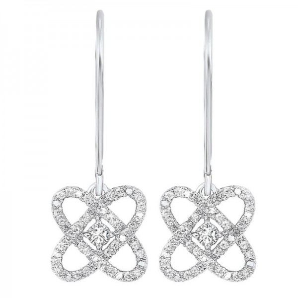 Sterling Love's Crossing Diamond Earrings