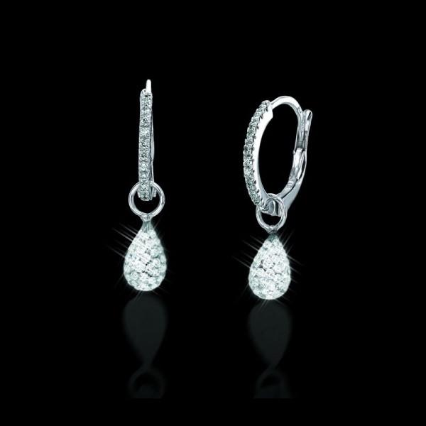 Solare Diamond Hoop Earrings