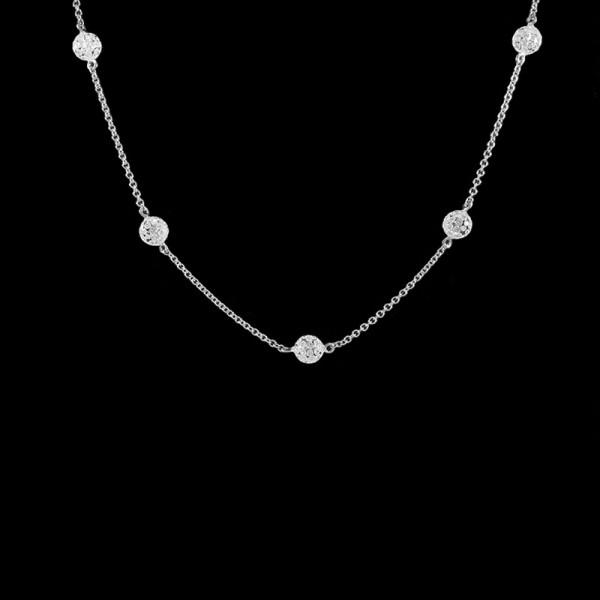 Solare Diamond Station Necklace