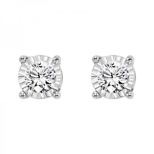 14K White Gold Diamond Studs .15ct tw