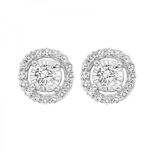 1.00ctw diamond earring with halo