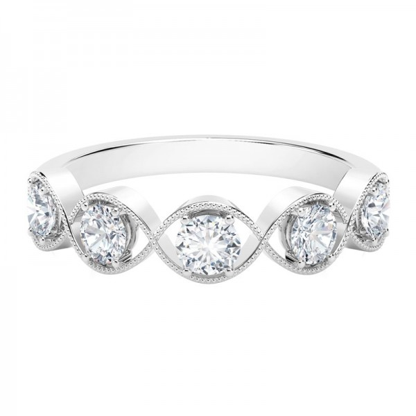 The Tribute™Collection Classic Milgrain Twist Diamond Ring
