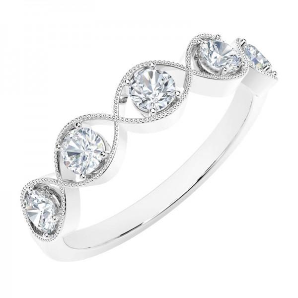 The Tribute™ Collection Classic Milgrain Twist Diamond Ring