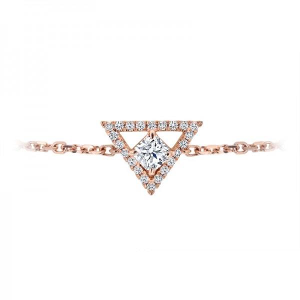 18KR Black Label Square Diamond Bracelet