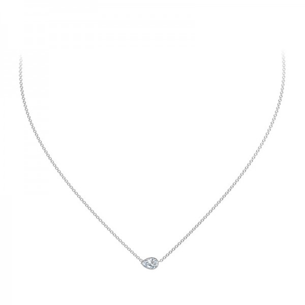 The Tribute™Collection Pear Shaped Diamond Pendant