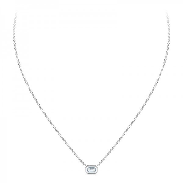 The Tribute™Collection Emerald Cut Diamond Pendant