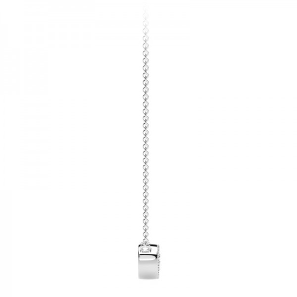 The Tribute™ Collection Milgrain Bezel Round Diamond Pendant