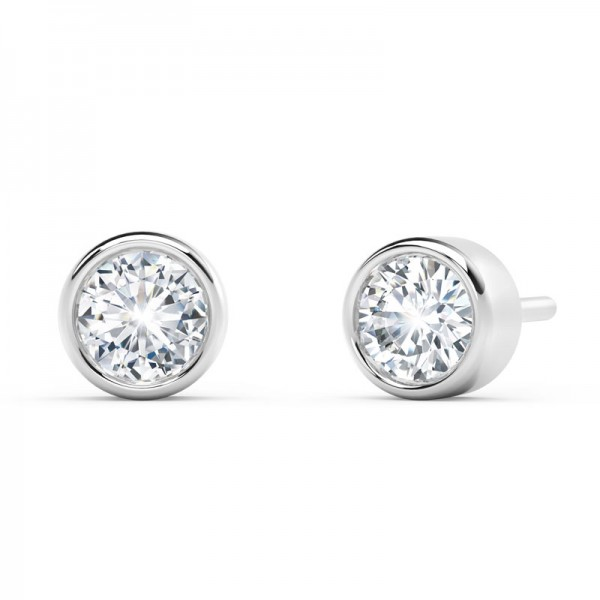 The Tribute™Collection Classic Forever Bezel Diamond Earrings