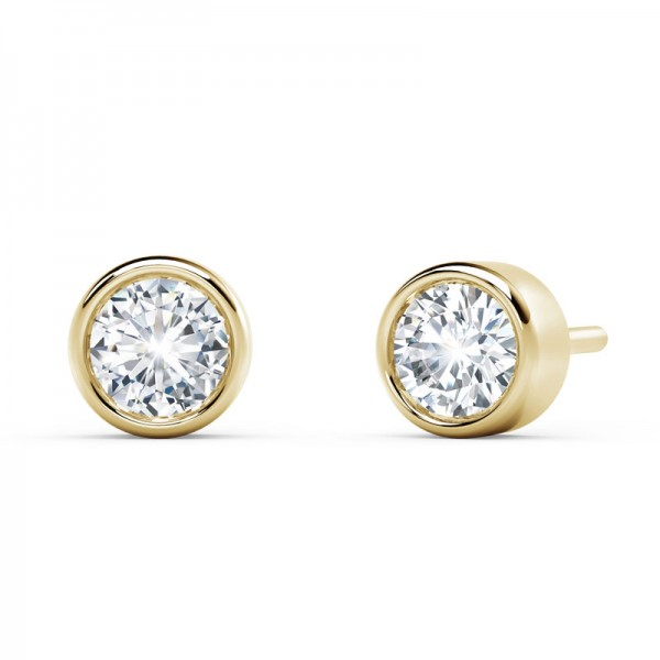 The Tribute™ Collection Classic Forever Bezel Diamond Earrings