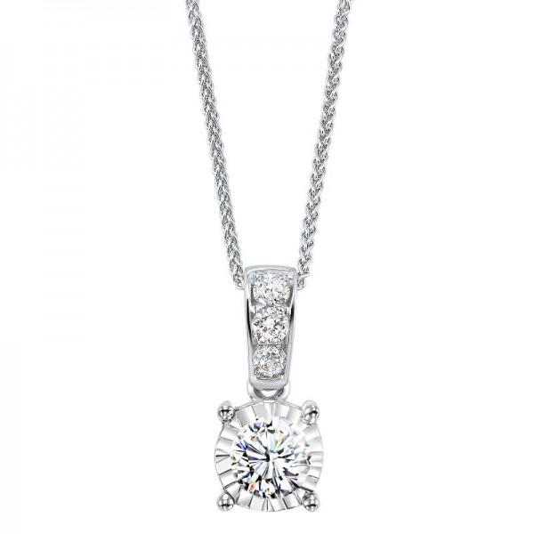 14KW Gold Diamond Pendant .11ct tw