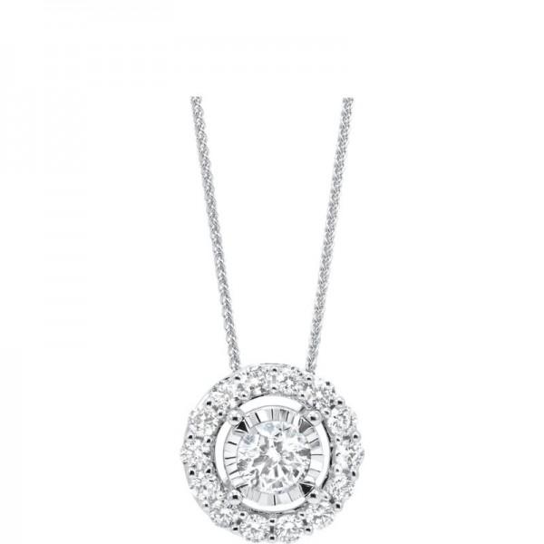 Lady's 14K White Gold Gold Diamond Pendant