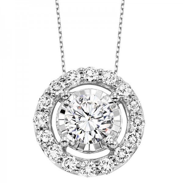 14KW Diamond pendant .51ct tw