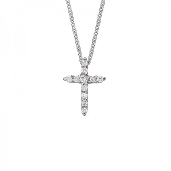 14KW Diamond Cross Pendant