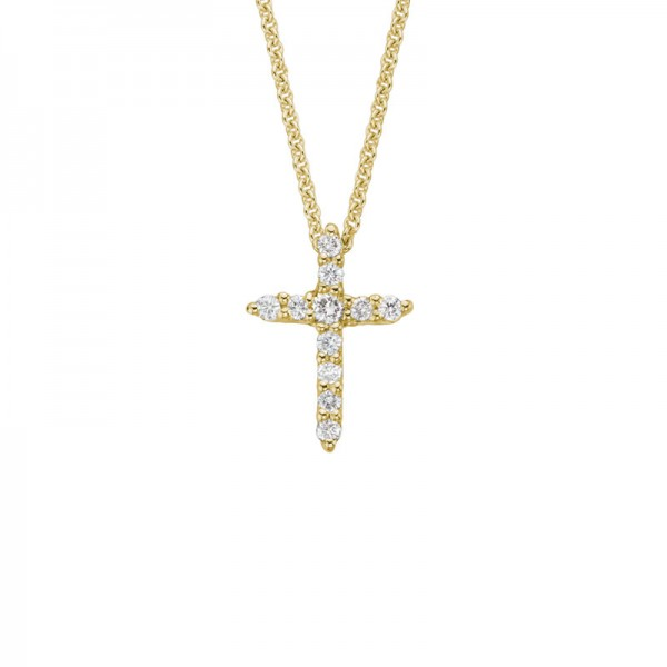 14KY Diamond Cross Pendant
